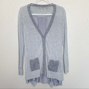 Anthropologie Knitted & Knotted Grey Cardigan G